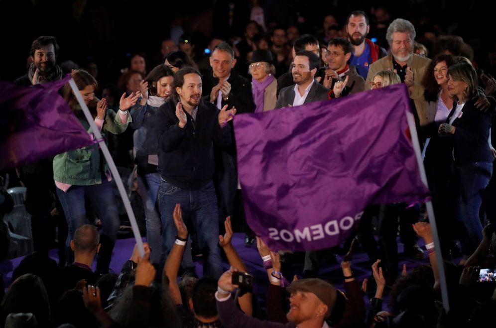 Foto: Pablo Iglesias, secretario general de Podemos, el pasado 23 de marzo en el acto de retorno de su permiso de paternidad, en Madrid. (EFE)