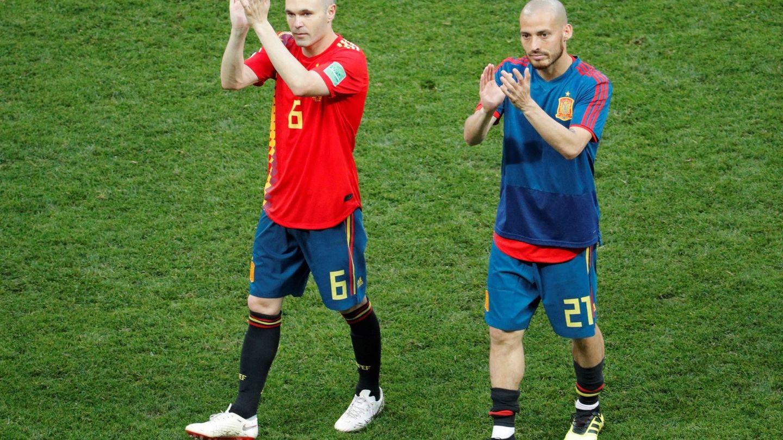 Iniesta y Silva dejaron la selección española tras el Mundial de Rusia. (EFE)