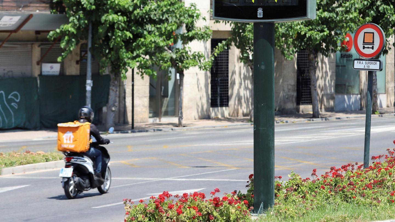 Un termómetro marca 41 grados en Murcia en julio de 2021. (EFE)
