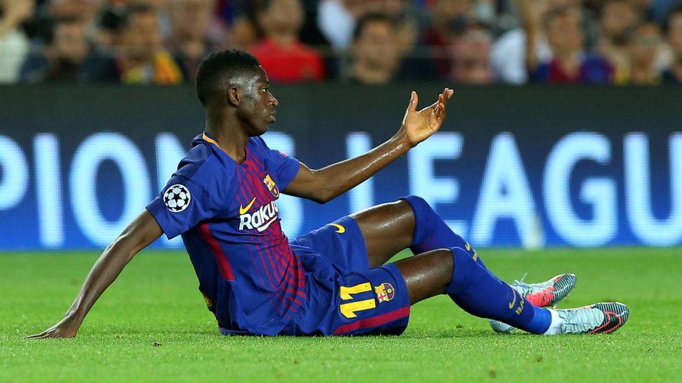 Foto: Dembélé, en uno de los tres partidos que ha jugado con el Barça. (Reuters)