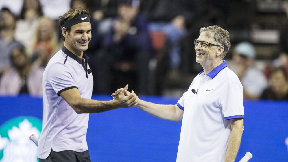 Foto: Roger Federer y Bill Gates. (EFE)