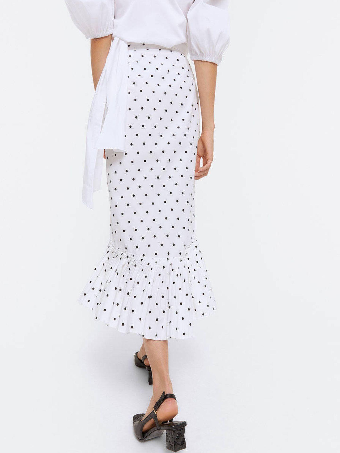 La falda de Uterqüe. (Cortesía)