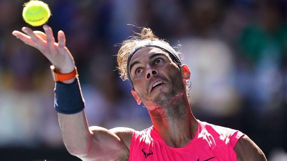 Foto: Rafa Nadal en acción durante este Open de Australia. (EFE)