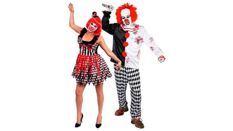 Disfraces para parejas de payasos asesinos