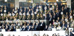 Post de Quién es quién en el palco del Bernabéu: Moragas se despide rodeado del PP