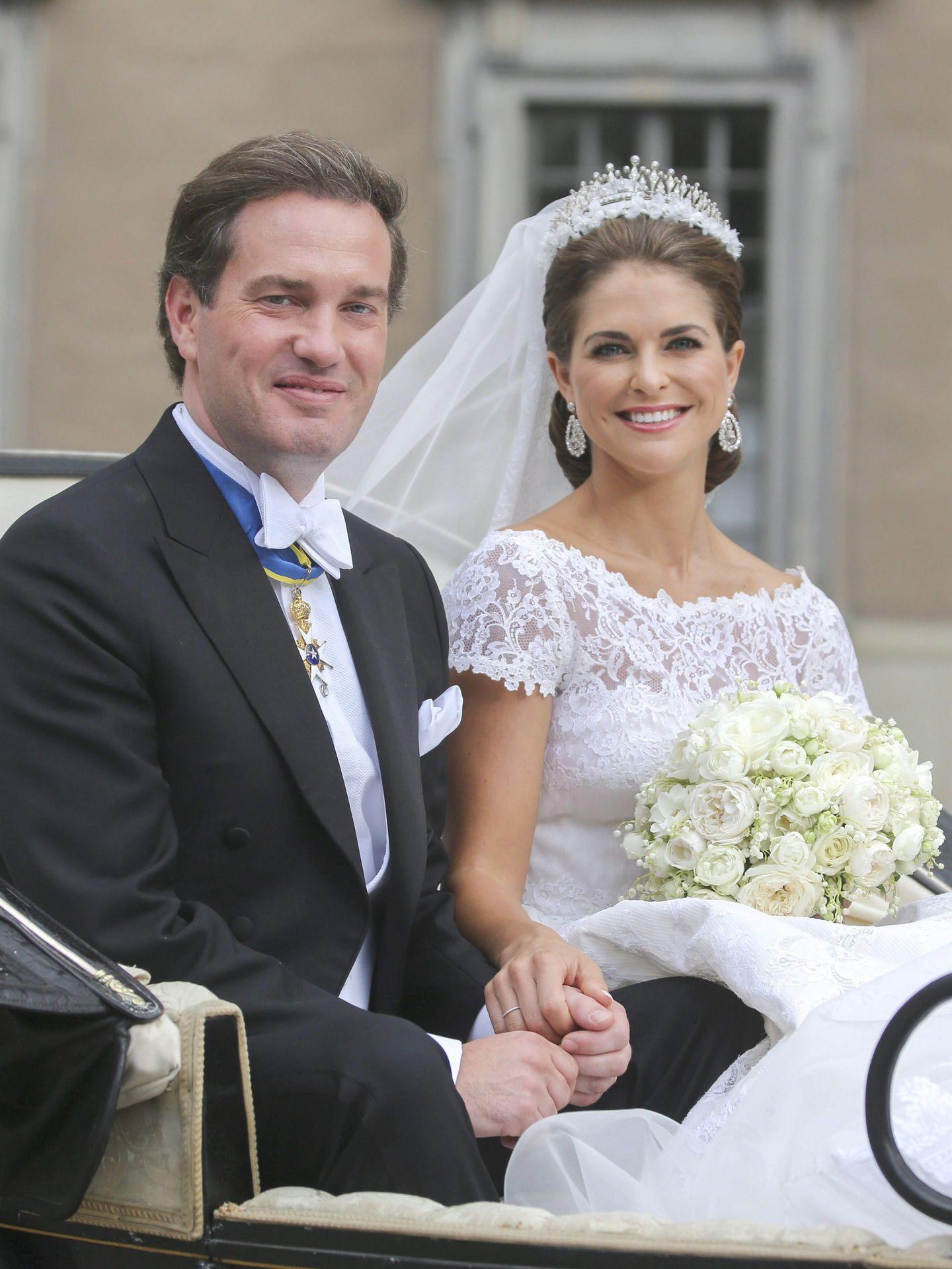La princesa Magdalena y Chris O'Neill, el día de su boda. (EFE)