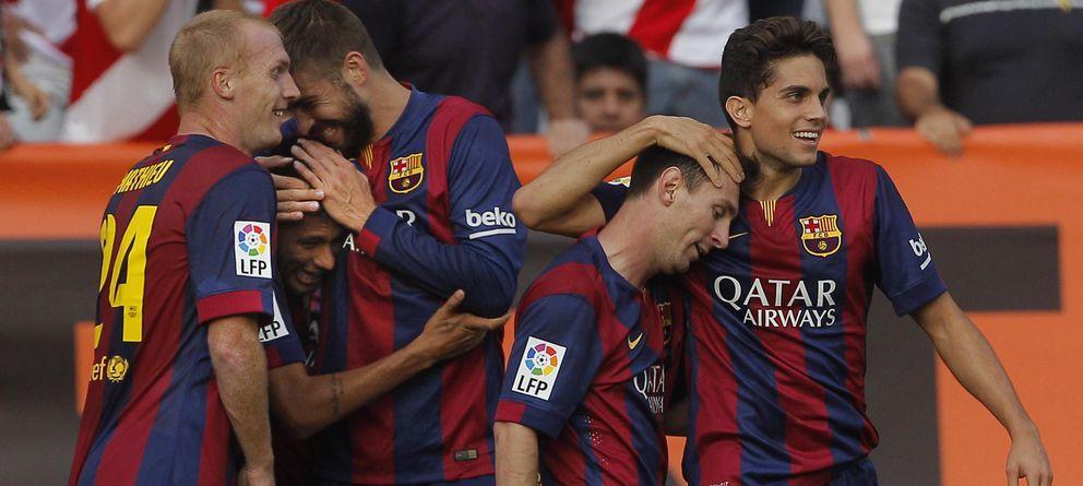 Foto: Jugadores del Fútbol Club Barcelona (AP)