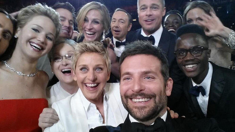El 'selfie' de  Ellen DeGeneres