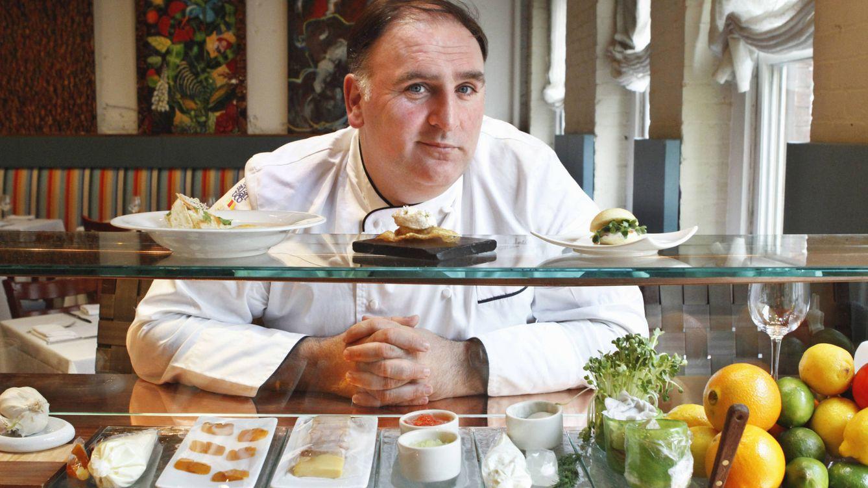 Foto: José Andres en su restaurante de Washington (Gtres)