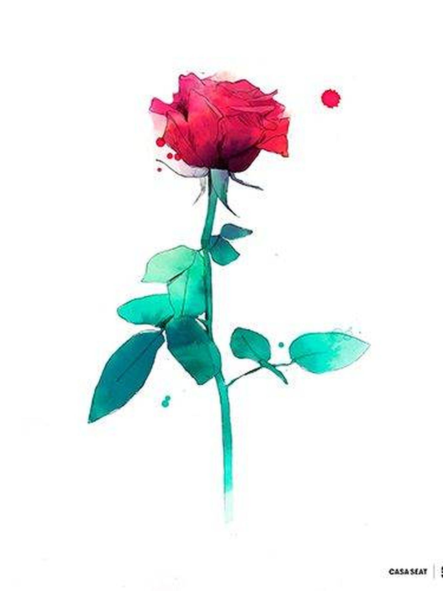 Rosa para Sant Jordi, diseñada por Conrad Roset (CASA SEAT)