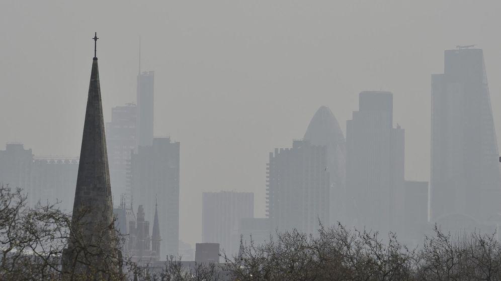 Foto: Así aparece Londres uno de los días de contaminación excesiva (Reuters/Toby Melville)