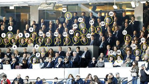 Quién es quién en el palco del Bernabéu: Moragas se despide rodeado del PP