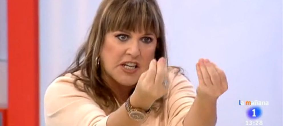 Foto: Loles León en el plató de 'Amigas y conocidas' de TVE