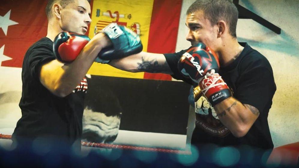 Foto: Jonfer entrenando en un gimnasio por Vallecas.