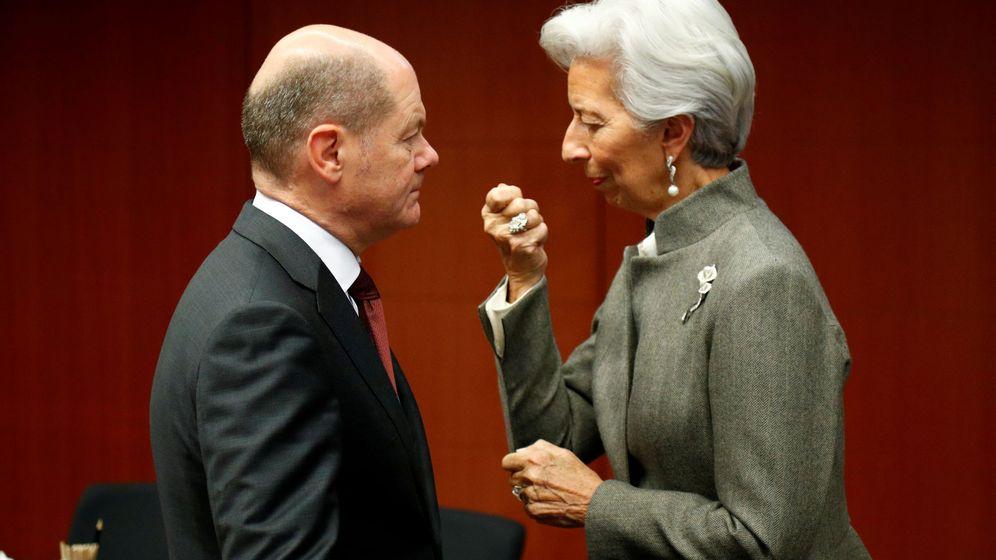 Foto: El ministro de Finanzas alemán y la presidenta del Banco Central. (Reuters)