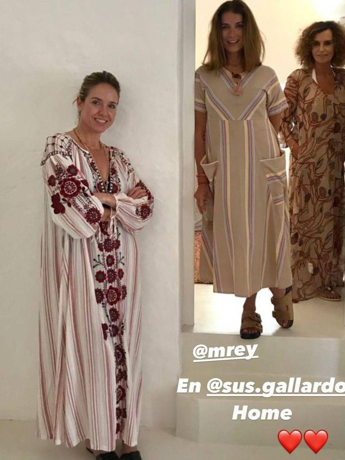 Una fotografía de las amigas en casa de Susana Gallardo. (Redes sociales)
