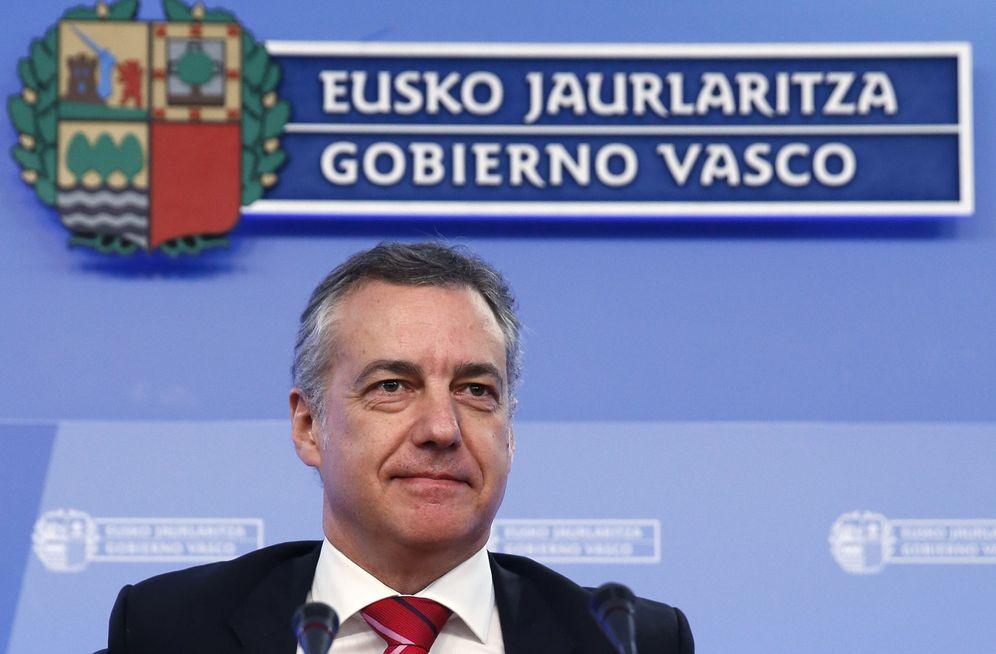 Foto: El lehendakari Iñigo Urkullu, durante la rueda de prensa que ha ofrecida este viernes. (Efe)