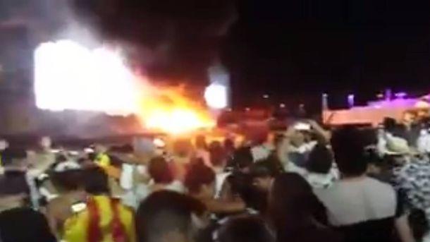 Foto: Captura de uno de los vídeos de los asistentes al Tomorrowland Barcelona.