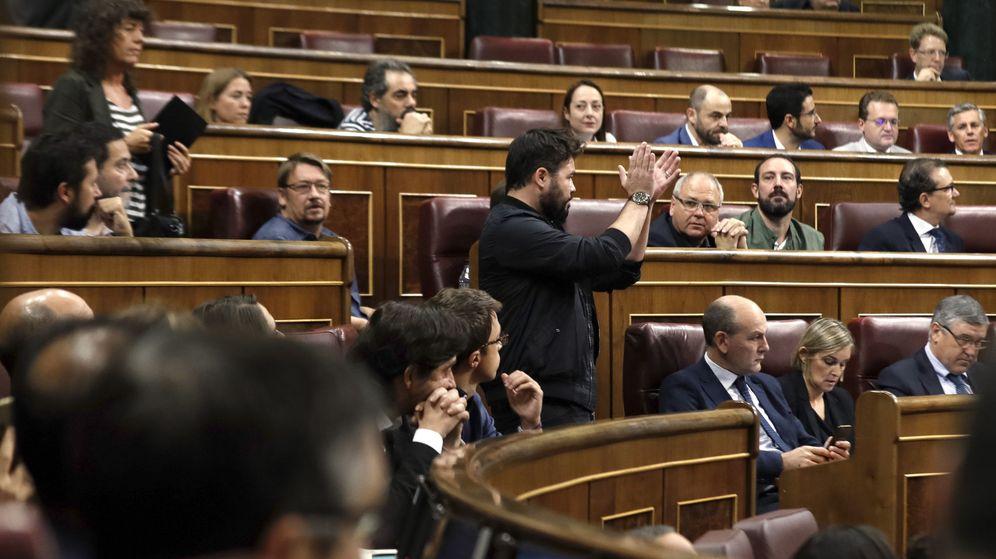Foto: Gabriel RUfián, durante el polémico discurso. (EFE)