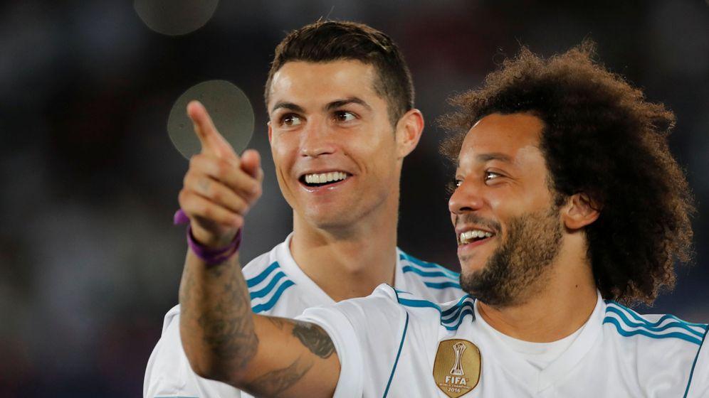 Foto: Cristiano Ronaldo y Marcelo, en Emiratos | Reuters