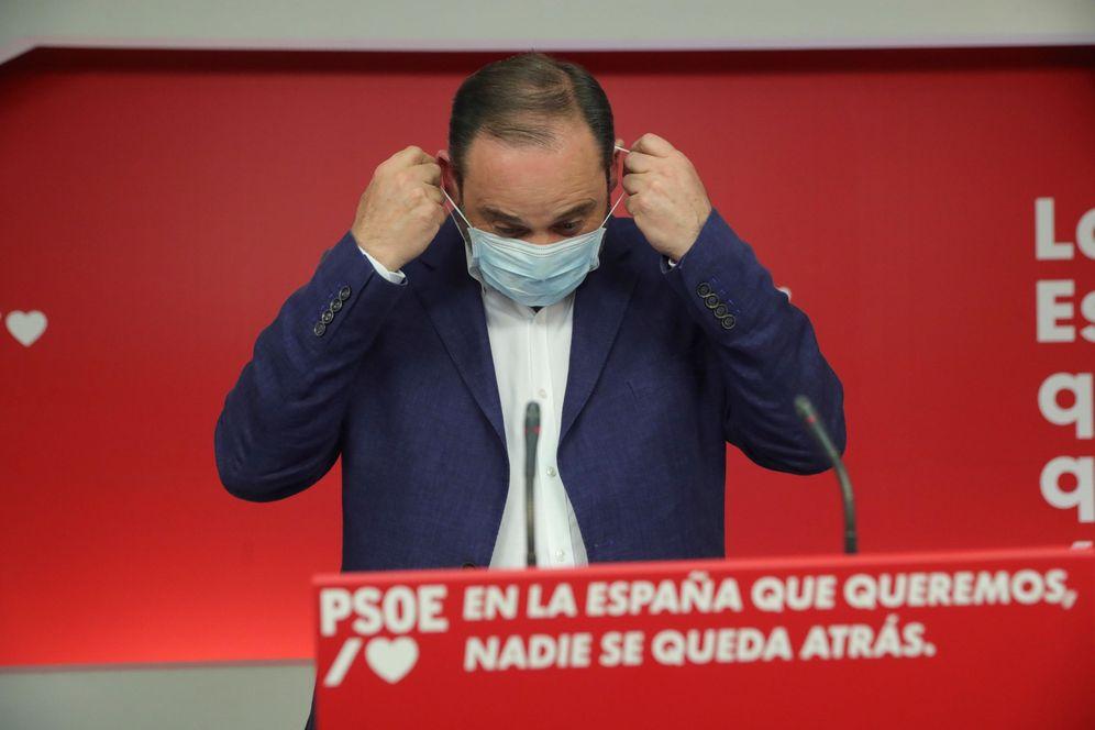 Foto: José Luis Ábalos, secretario de Organización del PSOE, este 12 de julio instantes antes de valorar los resultados electorales. (EFE)