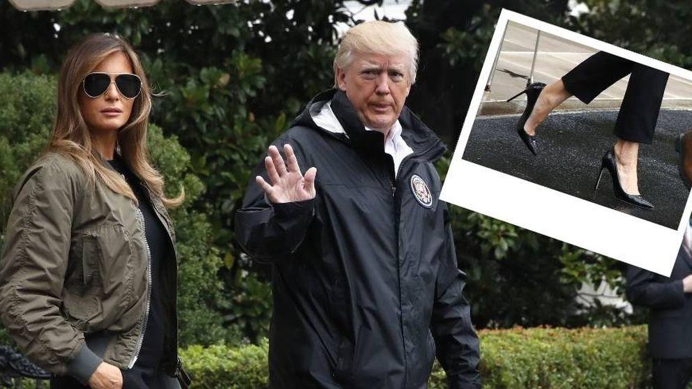 Melania Trump o cómo pasear por una inundación con tacones de 12 centímetros
