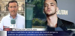 Post de El fallo de un reportero de Telecinco al referirse al cantante C. Tangana