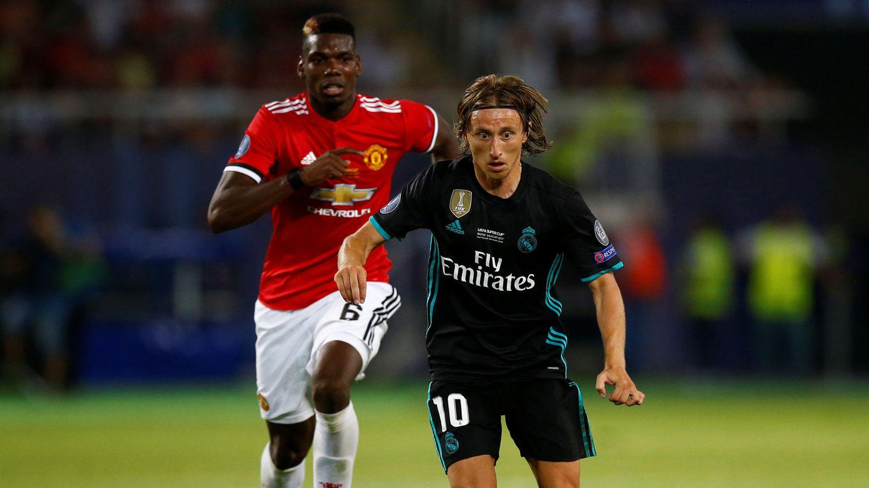Modric y Pogba en la Supercopa de Europa de 2017. (EFE)