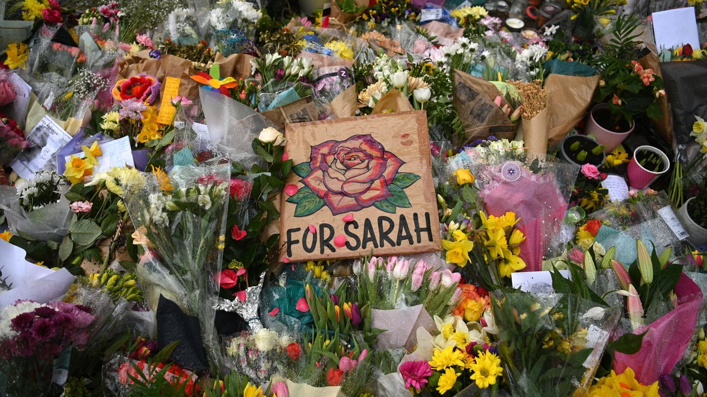 Homenaje floral a Sarah Everard. (Reuters)