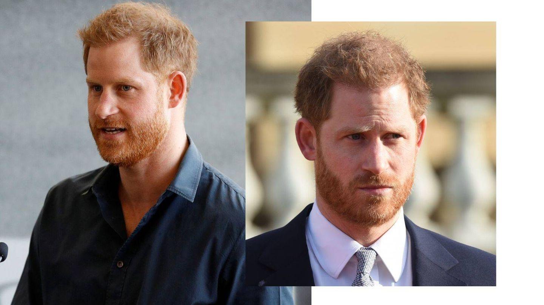 El pelo del príncipe Harry en 2020. (Getty)