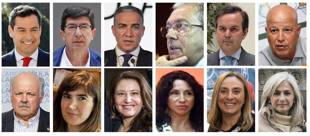Foto: El nuevo Gobierno de la Junta de Andalucía, presidido por Juanma Moreno. (EFE)