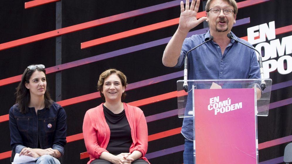 Foto: Domènech en un acto de la confluencia EnComúPodem. (EFE)