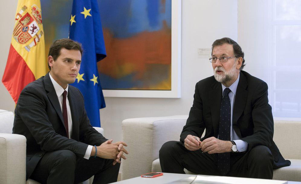 Foto: Rivera y Rajoy, en el Palacio de la Moncloa. (EFE)