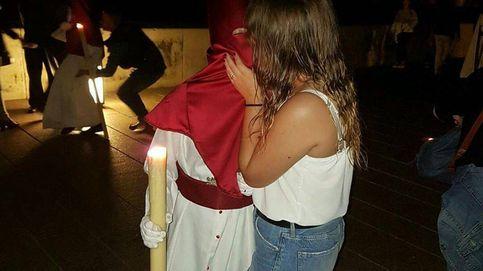 Fotos de nazarenos besándose desatan la polémica en Córdoba