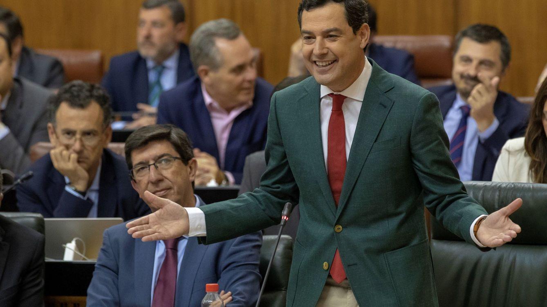 Moreno, el barón andaluz del PP, pide fe atado de pies y manos a Cs y Vox