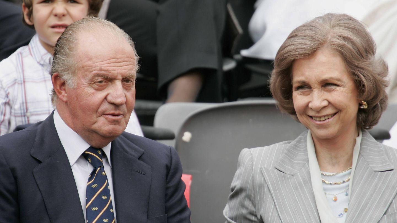 Los Reyes eméritos, en Roland Garros. (Getty)