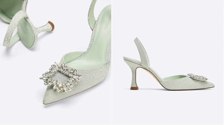 Zapatos joya de Uterqüe. (Cortesía)