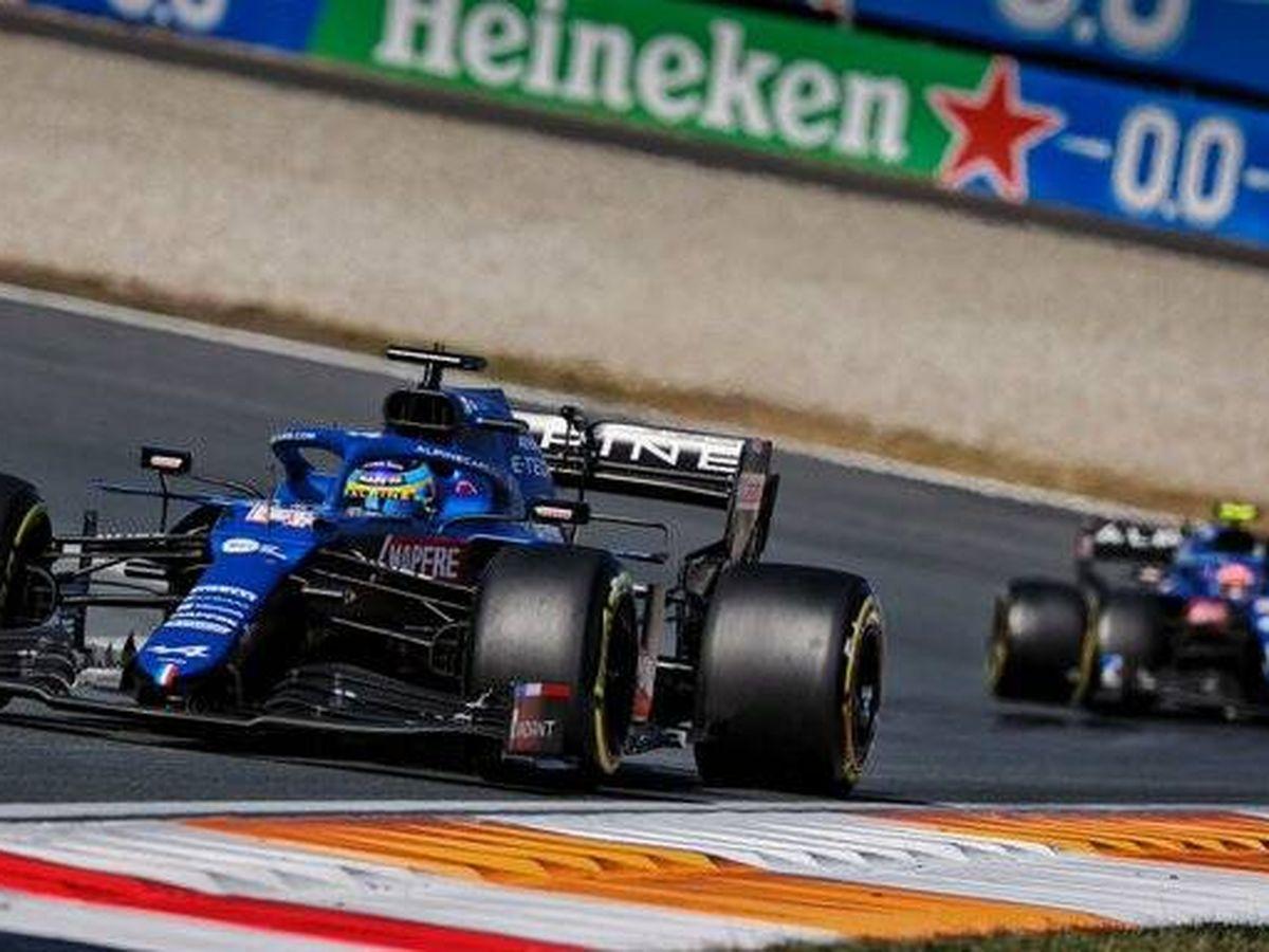 Foto: Tras superar a su compañero en la primera vuelta, Alonso terminó sexto, tres puestos por delante de su posición de salida. (Reuters)