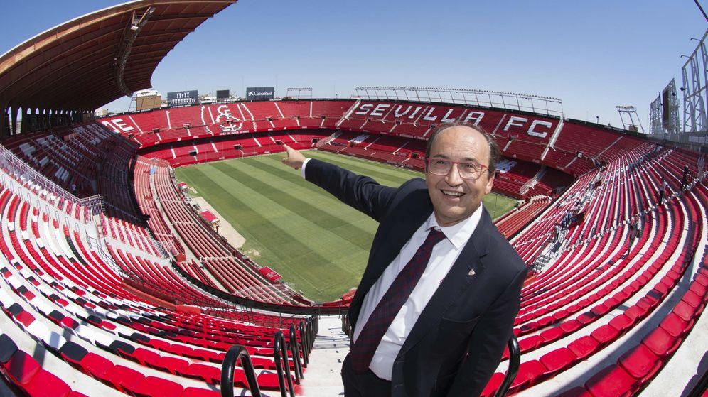 Foto: Pepe Castro en el Sánchez Pizjuán. (EFE)