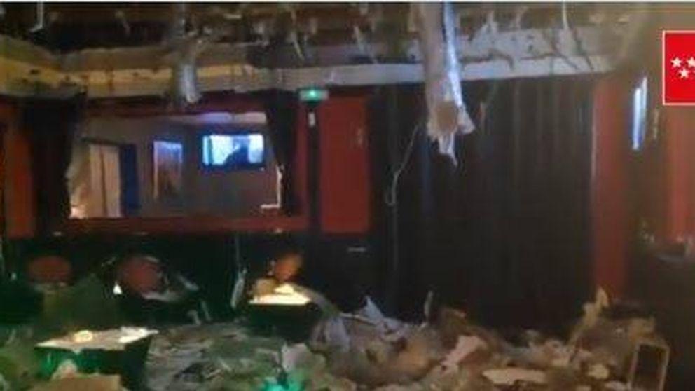 Diez heridos leves al caerse el techo de una discoteca en Aranjuez