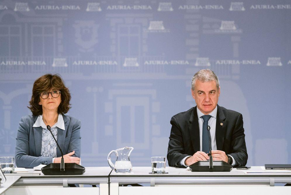 Foto: Iñigo Urkullu y Nekane Murga en una comparecencia. (EFE)