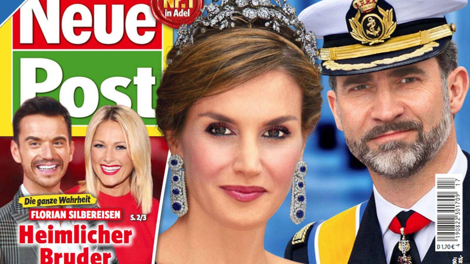 Foto: Una de las portadas sobre los Reyes de 'Neue Post'.