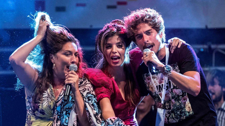 Kiki Morente, en un concierto con sus hermanas, Estrella y Soleá Morente, en 2019. (EFE)