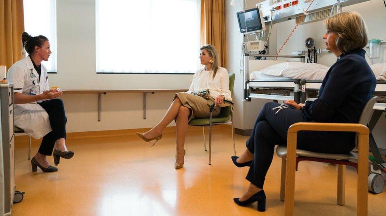 La reina Máxima, en el hospital de Utrecht. (Casa Real de los Países Bajos)