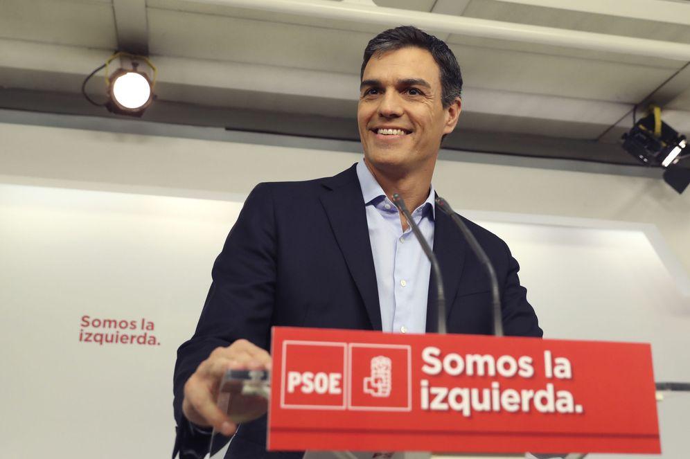 Foto: Pedro Sánchez, el pasado 4 de julio en Ferraz tras su entrevista con el Rey en la Zarzuela. (EFE)