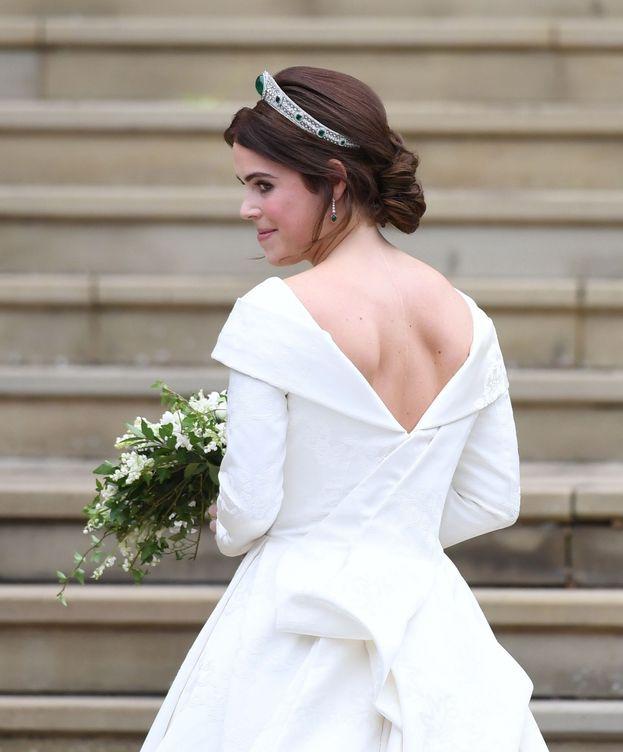 Foto: Eugenia de York, en su boda. (EFE)