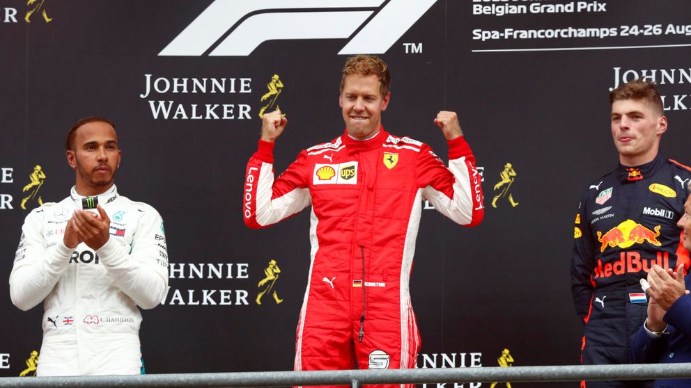 Resultado del GP de Bélgica de F1: Vettel se reivindica y a Alonso se lo llevan por delante