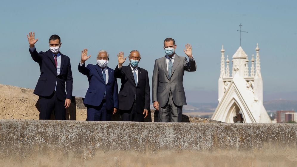 Foto: Representantes de España y Portugal en Badajoz. (EFE)