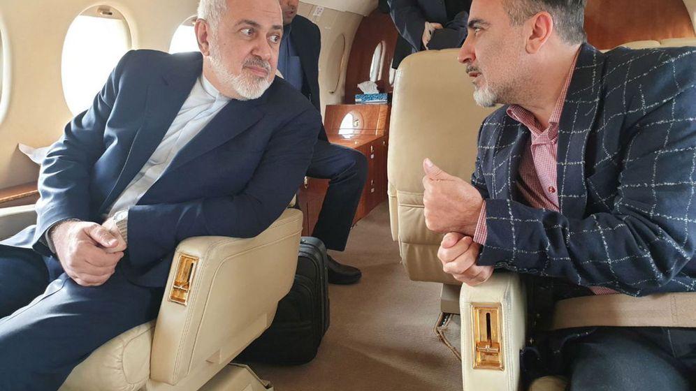 Foto: El ministro iraní de Asuntos Exteriores, Mohammad Javad Zarif junto al investigador iraní Masoud Soleimaní. (EFE)