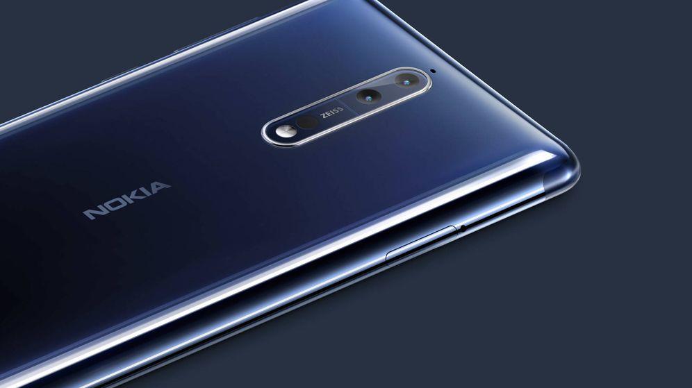 Foto: Detalle de la parte trasera del Nokia 8, el primer móvil 'premium' de la nueva Nokia. (Nokia)